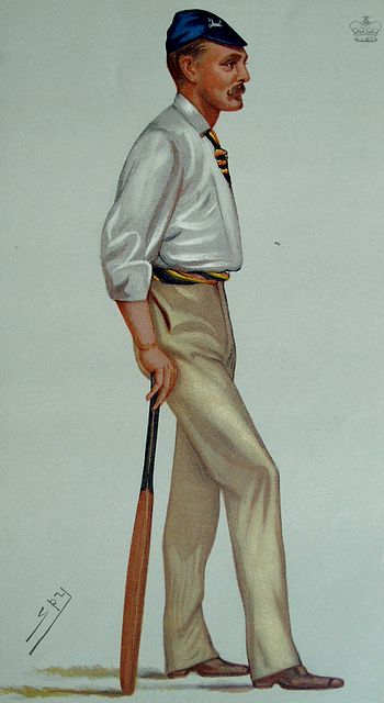 An original coloured lithograph caricature of Lord Harris by Spy. From Vanity Fair. Captioned 'KENT'.