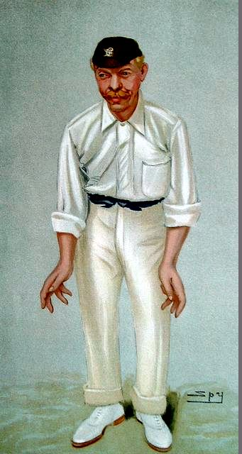 An original coloured lithograph caricature of Abel by Spy. From Vanity Fair. Captioned 'BOBBY'.